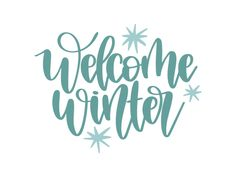 Free Welcome winter SVG DXF PNG & JPEG