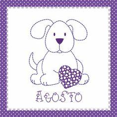 Teddy & Co.: stitch calendar AUGUST