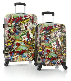 Marvel Comics Spiderman Lightweight 2PC Hardside Expandable Spinner Luggage Set -- Want additional info? Click on the image.