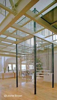 La jaula de la estructura parece la de un ascensor