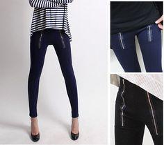 [SPRINGAVENUE] Twin Zipper HIGH WAISTED Pants Leggings Stretch Skinny Jean #Springavenue #CasualPants
