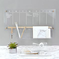 My New Room, My Room, Dry Erase Calendar, Wall Accessories, Home Office Accessories, Office Walls, Gold Office, Desk Office, Office Mural