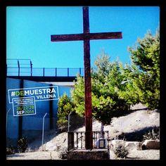 Hoy, foto con pregunta. ¿Sabéis donde está esta cruz?.  #DeMuestraVillena www.muestravillena.villena.es www.facebook.com/Muestravillena @muestravillena
