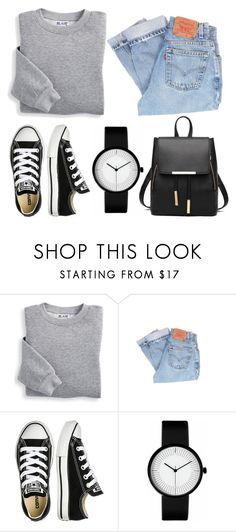"""comfortable style"" by aida1412 ❤ liked on Polyvore featuring Blair, Levi's and Converse"