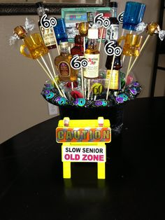 60th Birthday Gift Or Centerpiece Leslie Zambrano I Like Theseeee Gag Gifts