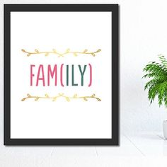 Printable Family Poster