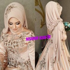 Image may contain: 1 person Muslim Wedding Gown, Muslimah Wedding Dress, Muslim Brides, Muslim Dress, Pakistani Wedding Dresses, Hijab Dress, Muslim Women, Wedding Abaya, Moslem Fashion
