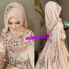 Image may contain: 1 person Muslim Wedding Gown, Muslimah Wedding Dress, Muslim Brides, Pakistani Wedding Dresses, Pakistani Bridal, Indian Bridal, Wedding Abaya, Kebaya Wedding, Muslim Couples