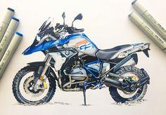 "1,310 Likes, 12 Comments - berkay yazıcı (@berkayazc) on Instagram: ""#bmw #r1200gs #adventure #rallye #rally #enduro #motorcycle #copic #marker #sketch #illustration…"""