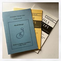 The first three versions of Piccoli Principi, self-help book for Italian bereaved parents.