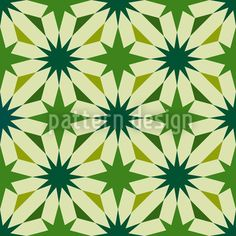Etoiles Du Vert by Kerstin Nolte available for download on patterndesigns.com Vector Pattern, Pattern Design, Paper Cup Design, Star Ornament, Different Shapes, Surface Design, Green Colors, Packaging, Patterns