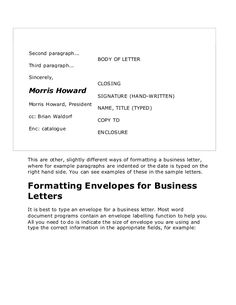 Sample Business Letter Quote Templates Letters Format Ful Block