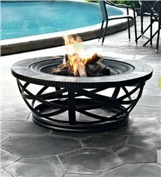 Glendale Round Slate Tile Fire Pit