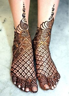 feet mehendi designs