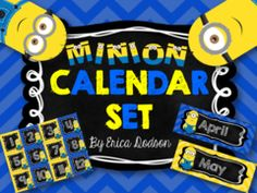 Minion Calendar Set Giveaway!! Enter for your chance to win 1 of 2. Minion Calendar Set {Chalkboard & Chevron}  (18 pages) from Erica Dodson on TeachersNotebook.com (Ends on on 07-24-2015) 2 lucky winners will receive my new Minion Calendar Set!  If you love Minions, you'll love this cute yellow and blue chevron with chalkboard set for your classroom!.