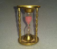 Vintage Egg Timer Old metal Hourglass Brass by darcyelizavintage