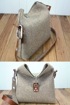 Felt Handbag which is handmade in London, It is made from industrial wool felt and is a great handbag for the modern woman who like minimalist and industrial