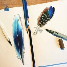 WEBSTA @ leuchtturm1917ru - from @chiaragiuliani22 - Practising.... #feathers…