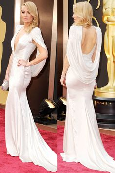 Kate Hudson in Versace.  2014 oscars