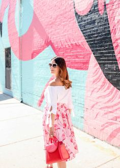 f0f0d5ea07b Pink Flamingo Skirt. Flamingo Print