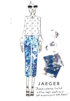 Fashion Illustration by Jaeger (Diamond Jubilee Capsule Collection)