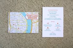 HOLLA for the West Coast! ~ Portland, Oregon Wedding Invites |