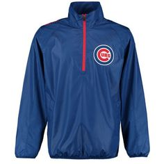 Men's Chicago Cubs G-III Sports by Carl Banks Royal Double Play Half-Zip Jacket