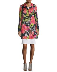 Floral-Print+Mid-Length+Jacket++by+Trina+Turk+at+Neiman+Marcus.