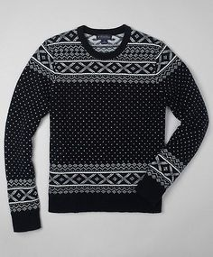 a little 'christmas sweater' cheesy but it works styled simple - dark jeans, simple shoes, collar peaking through #menswear