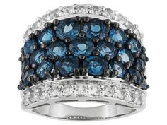 Barehipani Topaz (Tm), 4.30ctw With 1.10ctw White Topaz Sterling Silver Ring