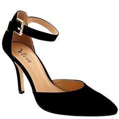 Oferta: 26.99€. Comprar Ofertas de Mujer Correa Tobillo Bajo Mediados Talón Oficina Trabajo Zapatos Gamuza - Negro Gamuza - 39 barato. ¡Mira las ofertas!