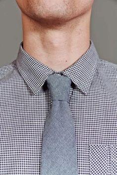 Blue Chambrah Necktie.