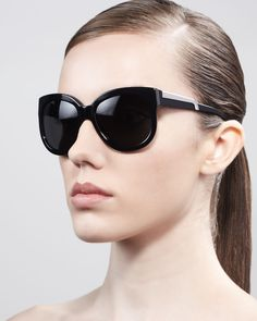 fde12987cf67 Rounded Plastic Sunglasses by Stella McCartney Sunglasses at Bergdorf  Goodman. just ordered these .