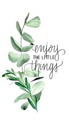 Küçük şeylerden zevk al.