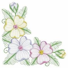 Rippled Pansies 05(Md) machine embroidery designs