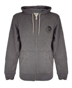 Diesel Grey 'Brandon' Hooded Sweatshirt Grey Sweatshirt, Hooded Sweatshirts, Diesel, Hoods, Sweaters, Cotton, Fashion, Diesel Fuel, Moda