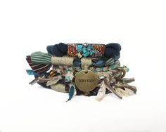 Hey, I found this really awesome Etsy listing at https://www.etsy.com/listing/180194352/navy-blue-gypsy-tribal-stacking-bracelet