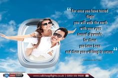 """Travel Quote: """"For once you have tasted flight you will walk the earth with your eyes turned skywards, for there you have been and there you will long to return."""" - Leonardo da Vinci  