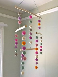 Lovely Hanging Mobile perfect for a nursery, a childs room or in your living room! Available in multiple colors.  Custom colors available upon