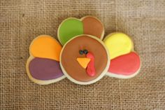cute turkey cookies!