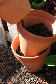 DIY Flower pots tower..