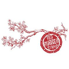 Spring Branch Rubber Stamp