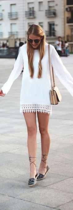 Little White Dress / Fashion By Dear Diary