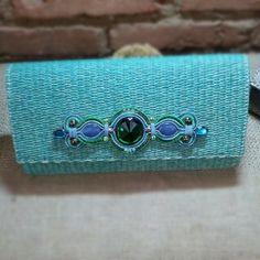 Clutch by Dopodomani Embroidery Jewelry, Beaded Embroidery, Hand Embroidery, Macbook Bag, Soutache Jewelry, Silk Ribbon, Shibori, Purses And Handbags, Cosmetic Bag