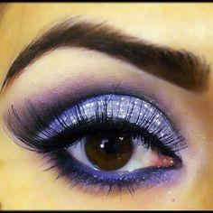 Glitter eyes make up