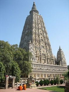 Maha-Bodhi Temple in Bodhgaya, India, where Gautama Buddha attained Nirvana under the Bodhi Tree