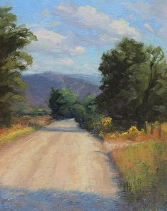 Up Ahead and to the Right by Addren Doss Oil ~ 14 x 11