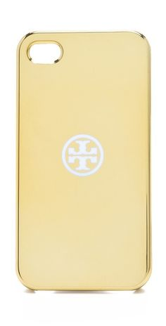 metallic iphone case / tory burch