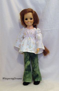 Long sleeved blouse and pants for Crissy Doll by WhisperingDreams, $12.00