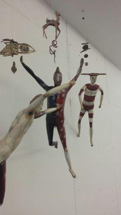 Selk'Nam Mobile Sculpture, Sculpture Art, Urban Tribes, Tribal Art, Paper Mache, Flocking, Installation Art, Nativity, Concept
